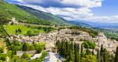 View of medieval Assisi, Umbria, Italy — Stock Photo