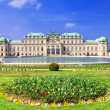 Belvedere palace ,Vienna Austria ,with beautiful floral garden — Stock Photo #68821143