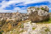 Matera - ancient town in Basilicata, Italy — Stock Photo