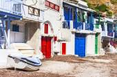 Traditional fishing village Klima, Milos island — Stock Photo