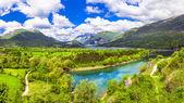 Impressive landsacpe of lake Barea — Stock Photo