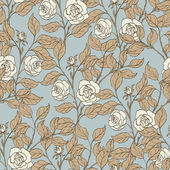 Floral background, seamless vintage pattern — Stock Vector