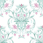 Watercolor damask pattern — Stock Vector