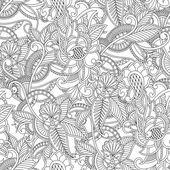 Monochrome paisley pattern. Seamless background — Stock Vector