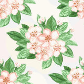 Seamless watercolor background. Floral pattern — ストックベクタ