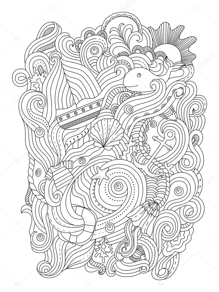 nautical coloring pages for adults - photo#30