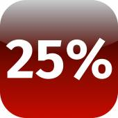 25 percent icon — Stock Photo