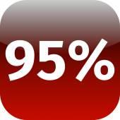 95 percent icon — Stock Photo