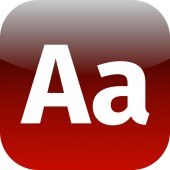 Enlarge font Internet button Icon App Apps AA — Stock Photo
