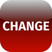 Change red web icon — Stock Photo