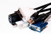 Kable komputerowe — Zdjęcie stockowe