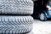 Tires of a car — Stock Photo