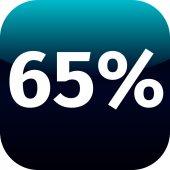 65 percent icon — Stock Vector