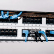 Server panel with cables and connectors — Stock Photo #55602325
