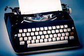 Paper in typewriter — Foto de Stock