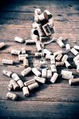 Vintage cork and glass — Stock Photo
