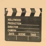 Movie flapper on white background — Stock Photo #56501341