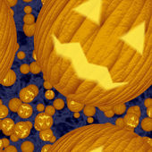 Seamless texture of halloween pumpkin — Stock Photo