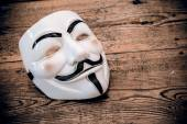 Anonymous mask — Stock Photo