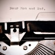 Text Dear Mom and Dad typed on old typewriter — Stock Photo #58352035