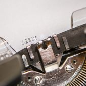 Old typewriter with text like — Stock Photo