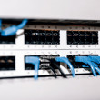 Server panel with cables and connectors — Stock Photo #63796101