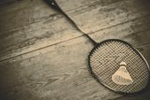 Vintage badminton racquet — Stock Photo