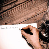 Old fashioned letter — Stock Photo