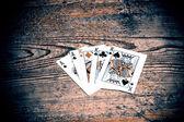 Cartão com rei — Fotografia Stock