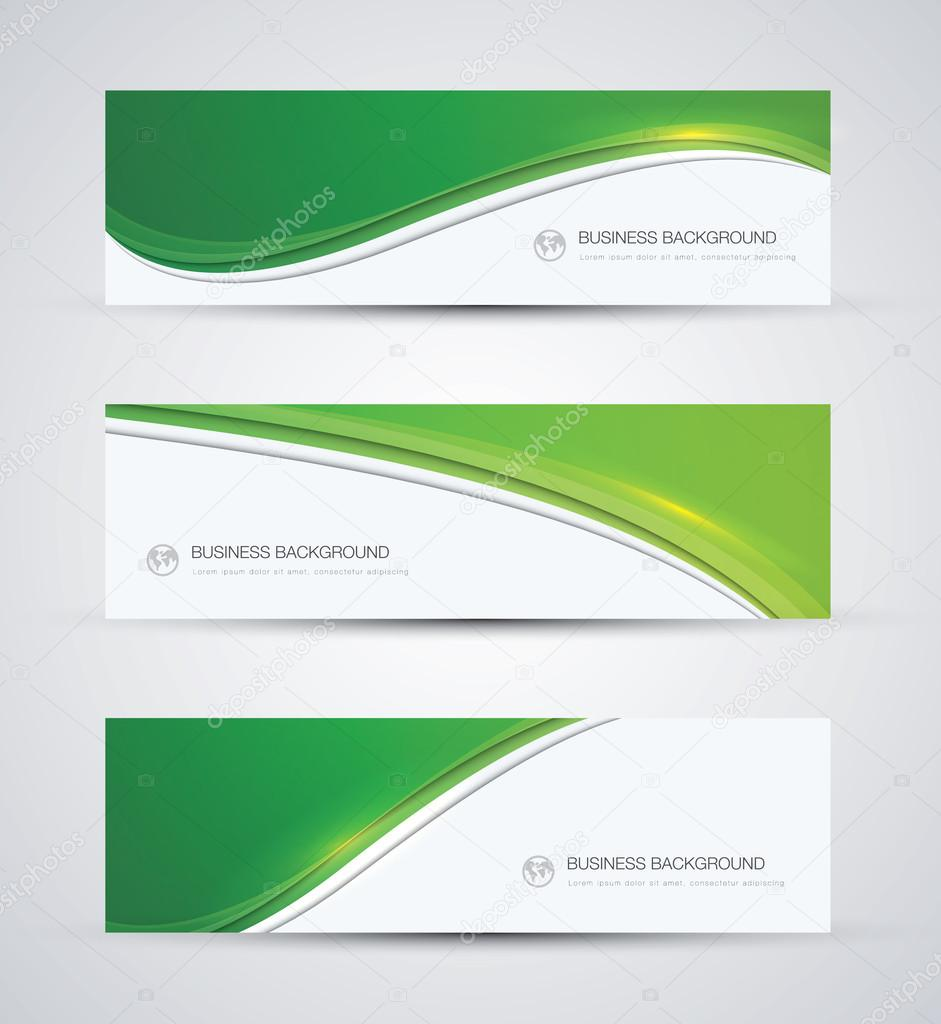 Green abstract beautiful business vector background wave ...