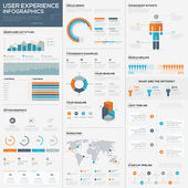 Big pack de elementos y datos visualización vectorial infografía — Vector de stock