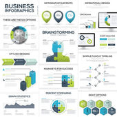 Business infographics and data visualization vector elements — Stock Vector