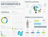 Business startup infographic vector illustration collection set — Stock Vector
