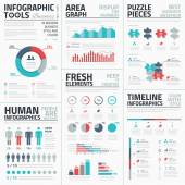 Business infographic elements vector illustration — Stockvector