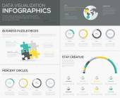 Vector percent infographics for creative data visualization — 图库矢量图片