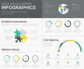 Vector percent infographics for creative data visualization — Stockvektor