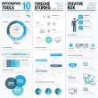 Big collection of business info graphics vector elements set — Stock Vector #58799085
