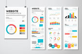 Platt webb design & hemsida infographics business vector-element — Stockvektor