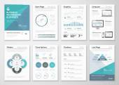 Infographic elements for business brochures and presentations — Stock Vector