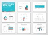 Infographics presentation templates and business brochures — Stock Vector