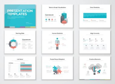 Infographics presentation templates and business brochures