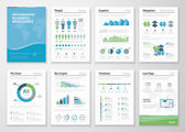 Infographics brochure elements for business data visualization — Stock Vector