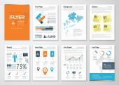 Infographic corporate elements and vector design illustrations — Stock Vector