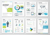 Infographic brochures for business data visualization — Stock Vector