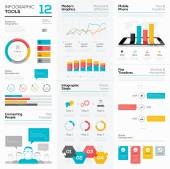 Infographic tools and business vector graphics elements — Stock Vector