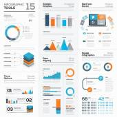 Modern infographic business elements and vector tools — Stock Vector