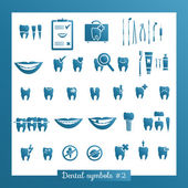 Set of dentistry symbols, part 2 — Wektor stockowy