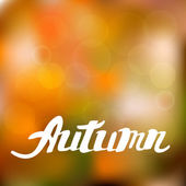 Abstract autumn background with hand drawn lettering — 图库矢量图片