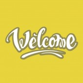 Welcome hand drawn lettering — Stock Vector