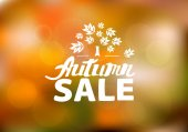 Autumn sale - hand drawn lettering — Stock Vector